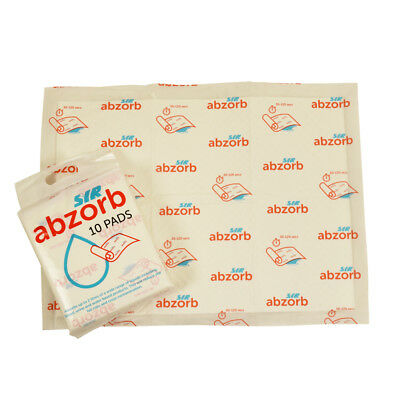 Puppy Pads x 10 Abzorb Pads 2L SYR Absorb spillages water liquids Blood Urine