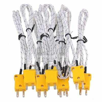 100cm K Type Thermocouple cable Set of 10 White