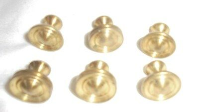 Antique vintage heavy brass drawer pulls knobs lot of 6  furniture repair #2