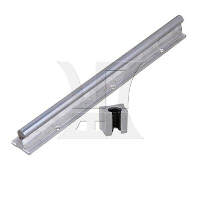 30cm Linear Bearing Support Rail w/ Open Linear Bearing Slide Silver