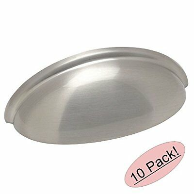 """Indoor Home Kitchen Decor Satin Nickel Cabinet Pull Cup Drawer Handle 3"""" 10 Pack"""