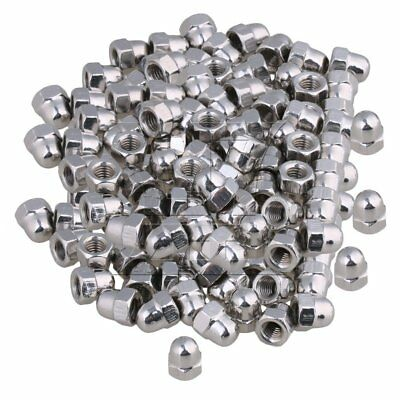 Silver 304 Stainless Steel M6 Acorn Cap Hex Nuts Right Hand Threads Set of 200
