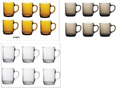 Duralex Versailles Mugs 26 cl ,ideal for Hot Beverages (Tea,Coffee Coco) pack  6