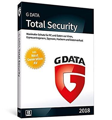 G DATA Total Security 2018, 3PC / 1 Jahr, Vollversion, Download, ESD