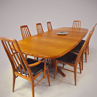Danish Dining Table & 8 Chairs - Koefoed / O. Moller - Teak (delivery available)