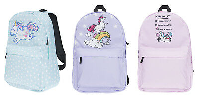 Unicorn Printing Backpack Fashion Women Canvas Cute Travel Bag for Teenage Girls