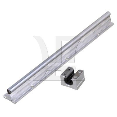 2x SBR10 Linear Bearing Guide Rail 30cm w/ Open Linear Bearing Slide Silver