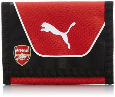 Arsenal FC Puma red black zipped unisex two fold football team sports wallet