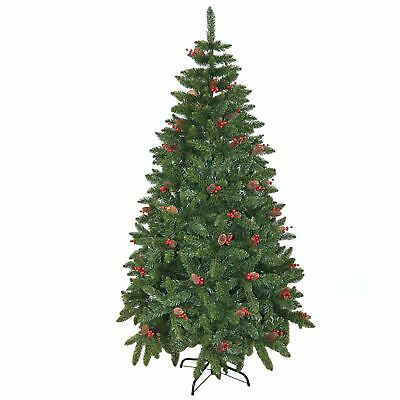 5ft Pre Decorated Artificial Christmas Tree Traditional Xmas Indoor Decor 150cm
