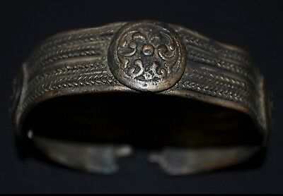Ancient Viking Bronze Bracelet. Stunning Norse Cuff Bangle, 950-1000 Ad. Cleaned