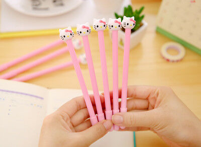 4PC Pink Kawaii Hello Kitty Neutral Pen Black Ink 0.38mm Ballpoint Stationery