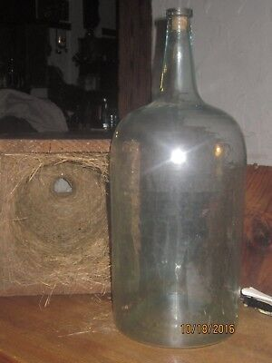 1872 Wooden Stencil Crate Square Nail Demijohn Box G W Banker With Bottle Inside