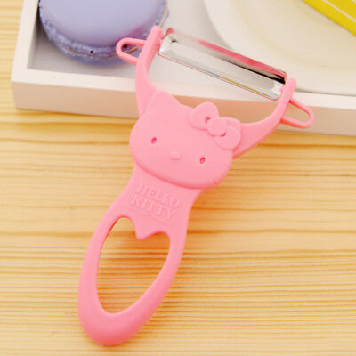 1PC Pink Kawaii Hello Kitty Stainless Steel Vegetable Potato & Fruit Peeler