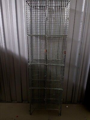 Ex Building Site Wire Cage Lockers, PPE Cages 4x2 #219W
