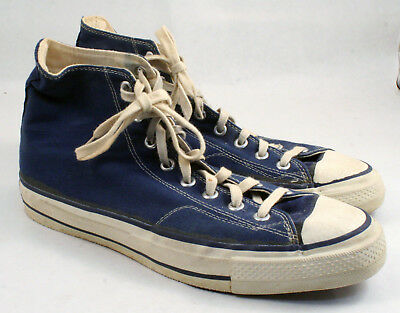 8cca0e38fa2031 Vintage Old School Converse All Star Chuck Taylor Blue Label USA Size 10  Nice!