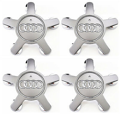 OEM 4 Pieces Wheel Center Cap 4F0601165N FOR Audi Q3 Q5 Q7 A4 A5 A6 A7 S4 S6 S8