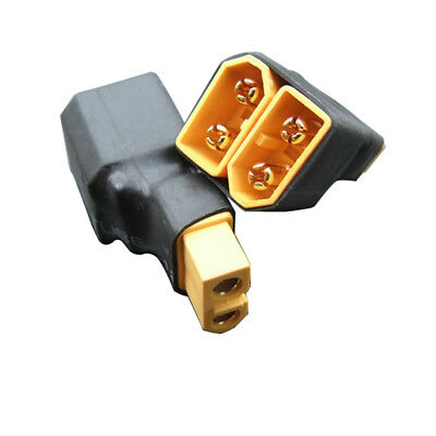 2x No Wire XT60 Connector 1 Female to 2 Male in Series Adapter for RC Quadcopter