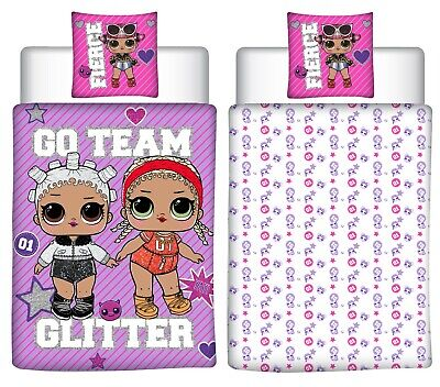 Lol Surprise Single Duvet Cover & Pillowcase Set Reversible Kids Girls