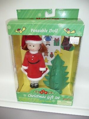 """8"""" Madeline & Friends Poseable Doll, Christmas Gift Set MIB by Eden"""