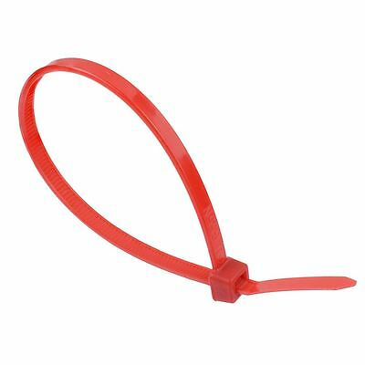 4.8mm x 300mm Red Zip Cable Tie - Pack of 100