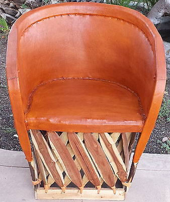 Superbe Standard Equipale Rustic Mexican Leather Back Chair