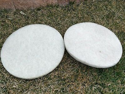 3M 4100 17 inch Super white polish pad Floor buffer cleaner Set of 2 new 17""