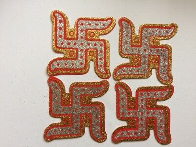 2 Pairs Swastik Sticker Decorations For All Occasion