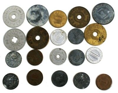 Collection of Vintage Tax Coins