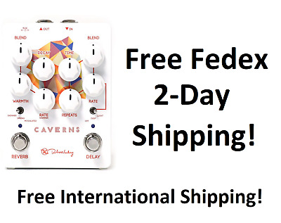 New Keeley Caverns Delay Reverb V2 Guitar Effects Pedal!