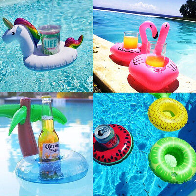 4PCS Inflatable Floating Drink Can Cup Holders Hot Tub Swimming Pool Beach Party
