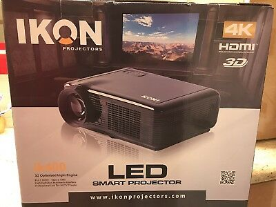 Ikon ik400 Projector (HDMI and 3D) and self locking projector screen