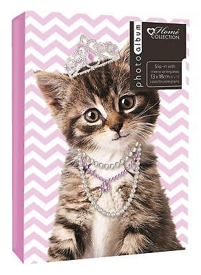"Cat Kitten Slip In Photo Album Holds 104 5"" x 7"" Photos"