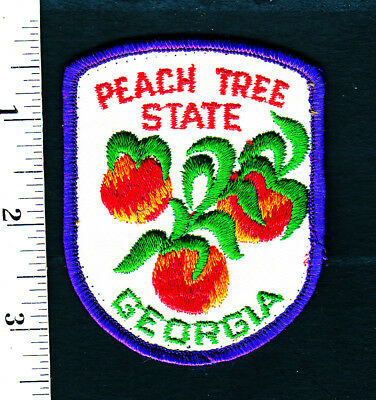 Georgia Peach Tree State.... Embroidered Patch..Hat/Shirt/Jacket ....#560t
