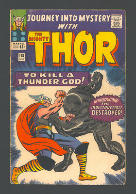 """JOURNEY INTO MYSTERY #118 and #119 """"1965"""". 1st App. of The DESTROYER in #118."""