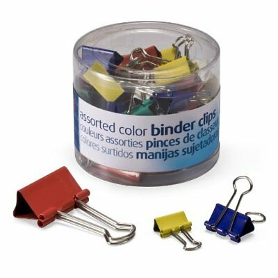 OfficemateOIC Binder Clips Assorted Colors and Sizes 30 Clips per Tub 31026