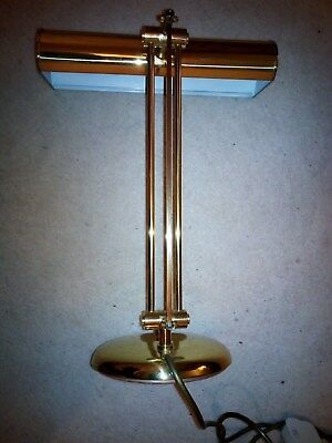 Desk / Bankers Lamp With A Brass Light Lens