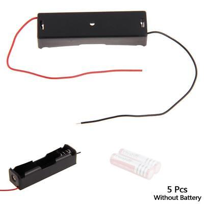 Plastic Battery Holder Storage Box Case For 18650 3.7V Rechargeable Wire Lead AC