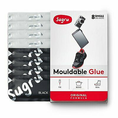 Sugru Mouldable Glue - It turns into rubber‎ - 8 Pack [Black, White]