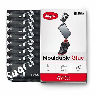 Sugru Mouldable Glue - It turns into rubber - 8 Pack [Black]