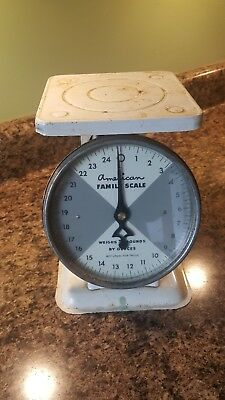 American Family Scale 25 pound Vintage Retro Kitchen Counter Scale Decor Works