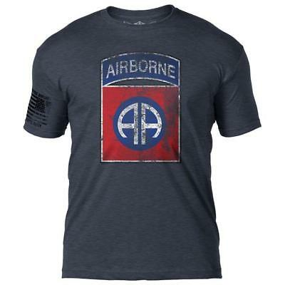 Army 82nd Airborne Distressed T-Shirt- 7.62 Design Army Tee Shirt