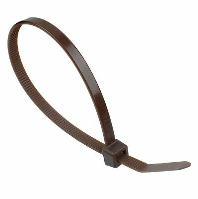 4.8mm x 370mm Brown Zip Cable Tie - Pack of 100