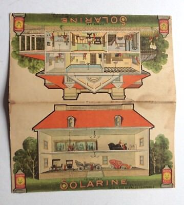 Vtg Solarine Advertising Trade Brochure House Garage Carriage Cars Early 1900s