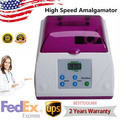 Dental Electric LCD High Speed Amalgamator Amalgam Capsule Mixer Blender 20W USA