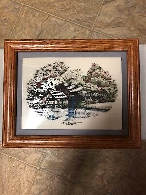 Vintage Marble Etched Art By Don Northcutt