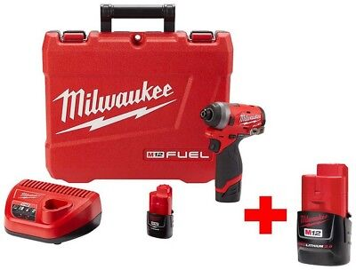 Milwaukee M12 FUEL 12-Volt Lithium-Ion Brushless Cordless 1/4 in. Hex Impact