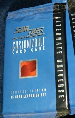 star trek ccg limited edition alternate universe booster free shipping