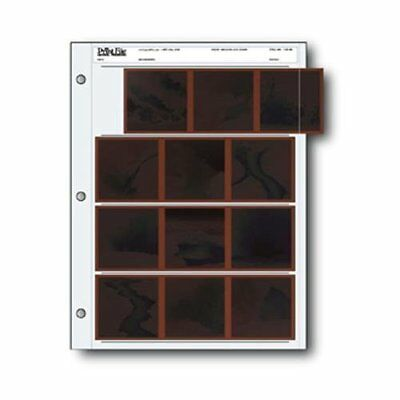 Print File 120-4B Negative Preservers for 120 Film 25 Pack Holds Twelve Frames o