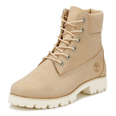 Timberland Womens Heritage Lite Boots Apple Blossom Beige Leather Ankle Shoes
