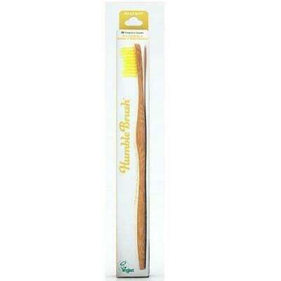 Humble Brush Adults Tooth Brush - Soft Bristle Yellow - Single x 4 Pack